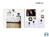 Combo Offer - Stand and Mobile Stand 16 LED Selfie Flash Lig