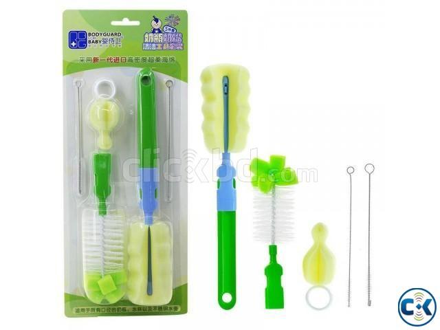 Baby Sponge Nylon Bottle Brush 5 pcs set | ClickBD large image 0