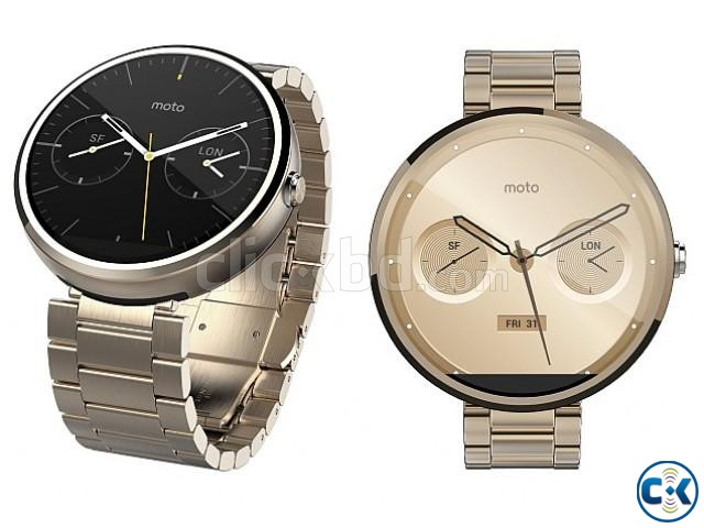 Moto 360 1st gen Gold Edition Brand New See Inside  | ClickBD large image 0