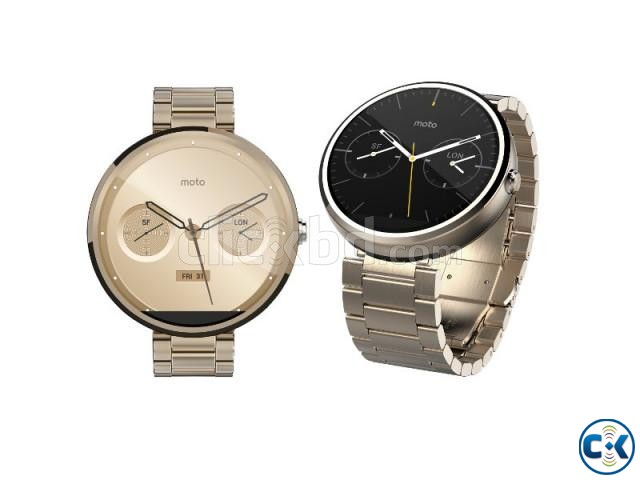 Moto 360 1st gen Gold Edition Brand New See Inside  | ClickBD large image 3