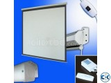 Motorized Projection Screen - 60 x 60