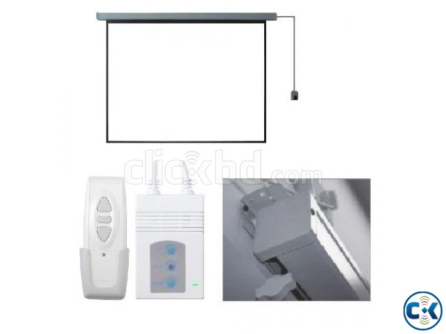 Motorized Projection Screen - 60 x 60 | ClickBD large image 1
