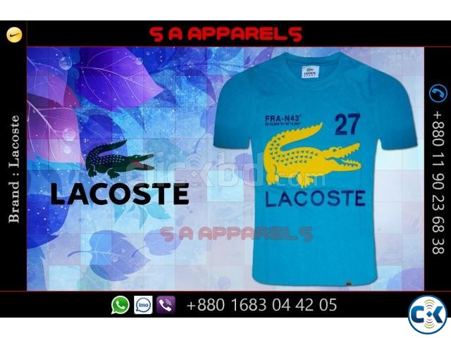 Lacoste T-shirts from Bangladesh for UK | ClickBD large image 0