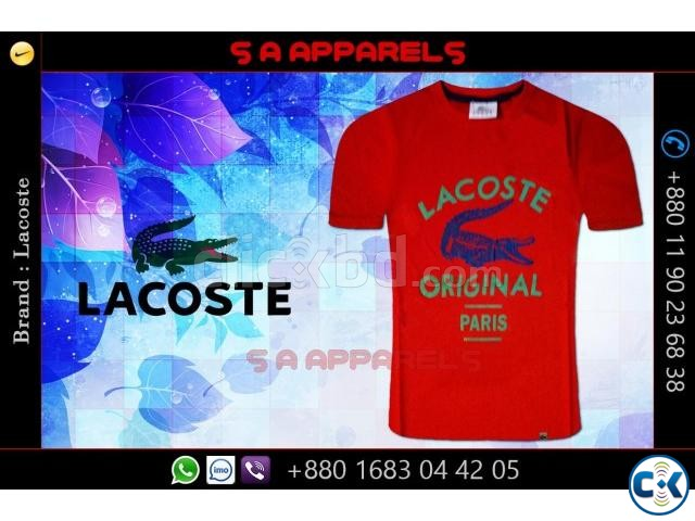 Wholesale Lacoste T-shirts from Bangladesh | ClickBD large image 0