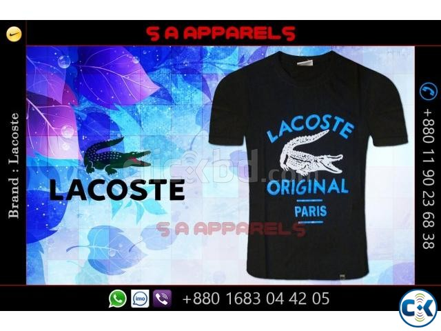 Wholesale Lacoste T-shirts from Bangladesh | ClickBD large image 1