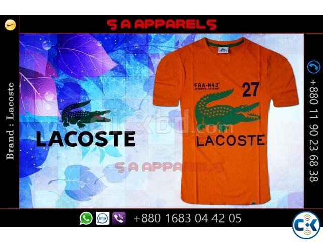 Wholesale Lacoste T-shirts from Bangladesh | ClickBD large image 2
