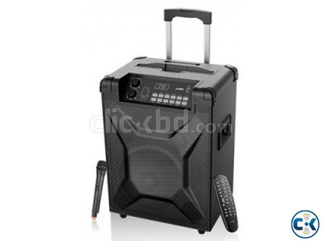 F D T2 Bluetooth 4.2 FM Crystal Sound Trolley Speaker | ClickBD large image 0