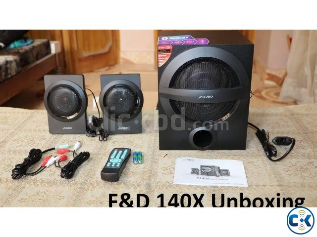 F D A140X Black Bluetooth 4.0 Audio Streaming 2 1 Speaker | ClickBD large image 2