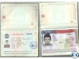 CHINA Contact VISA With Blank Passport