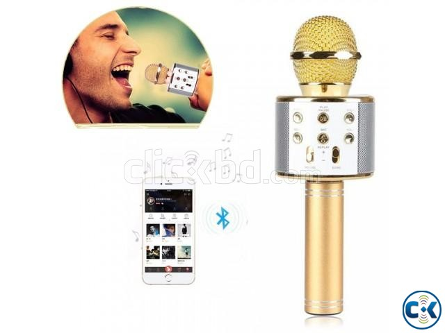 Bluetooth Microphone Karaoke 858 | ClickBD large image 1