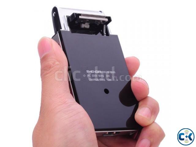 Rechargeable Card shape Men Shaver Razors Trimmer Slim 2055 | ClickBD large image 0