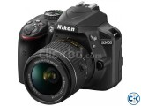 Nikon D3400 Burst Shooting 24MP FHD Digital SLR Camera