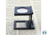 Thread Counting Magnifier Glass with Light Scale Textile