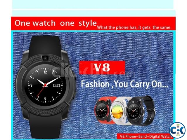 Smart Watch V8 | ClickBD large image 0
