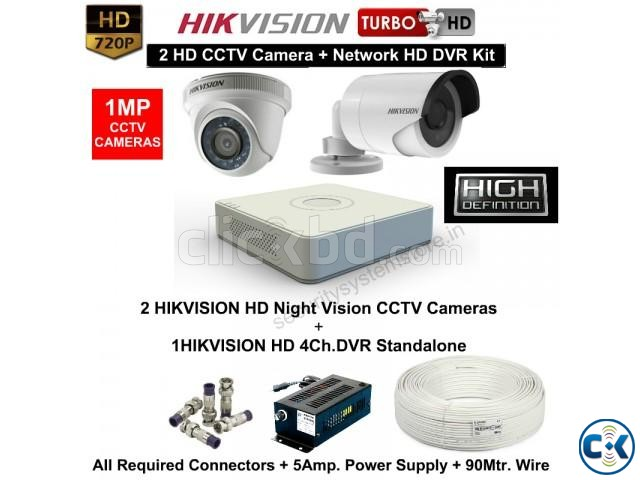 CC CAMERA 4 PCS. HIK VISION 700TV CCTV Camera FOR YOUR HOME | ClickBD large image 0