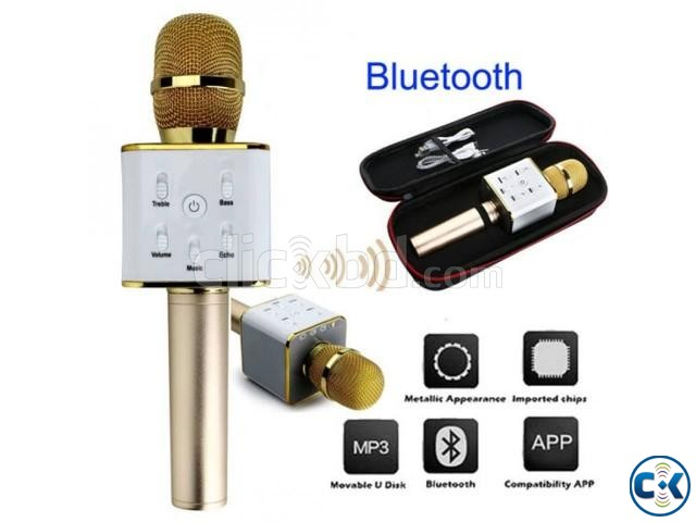 Wireless Bluetooth Microphone Speaker KaraokeTuxun Q7   ClickBD large image 0