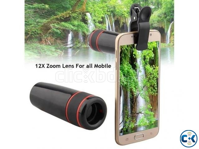 Apexel Universal Clip 12X Zoom Optical Telescope Lens | ClickBD large image 0
