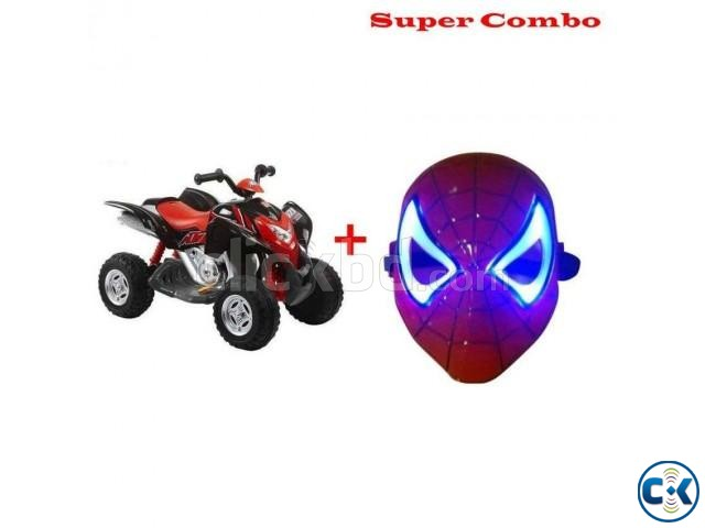 Combo Offer Beach Motorcycle for Kid s and Spiderman Mask | ClickBD large image 0