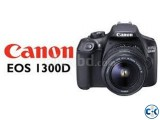CANON EOS 1300D DSLR Camera with 18-55 mm f 3.5-5.6 Lens -