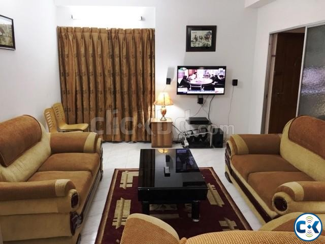 2250 Sft. 3 bed Fully Furnished Apartment for rent at Banani | ClickBD large image 0