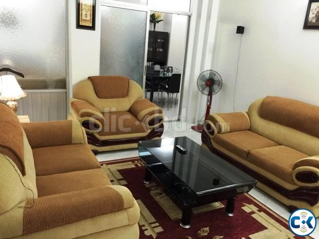 2250 Sft. 3 bed Fully Furnished Apartment for rent at Banani | ClickBD large image 1