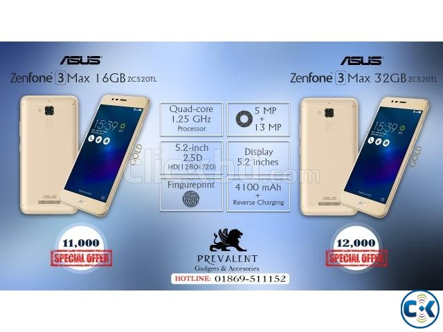 Asus Zenfone 3 Max 32GB ZC520TL Brand New Intact  | ClickBD