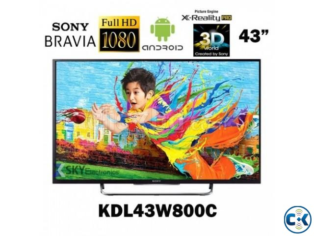 Sony Bravia 43 W800C Smart Android 3D LED TV | ClickBD large image 1