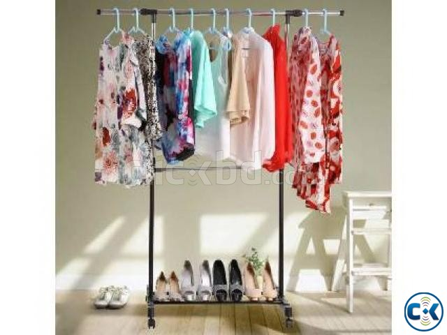 ADJUSTABLE SINGLE PORTABLE CLOTHE HANGER | ClickBD large image 0