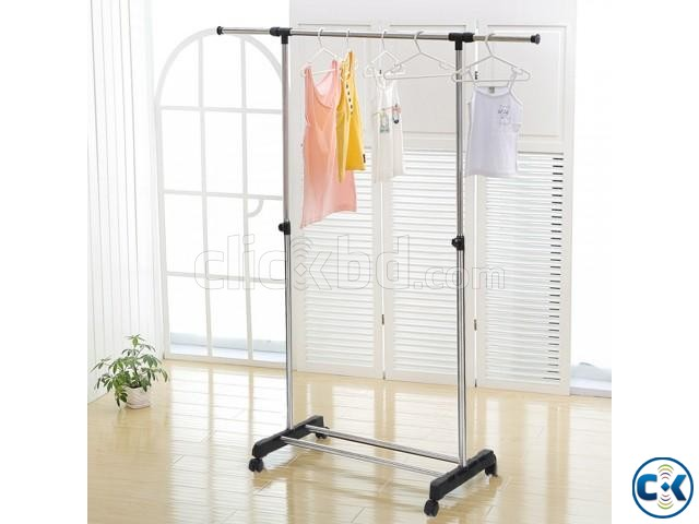 ADJUSTABLE SINGLE PORTABLE CLOTHE HANGER | ClickBD large image 1
