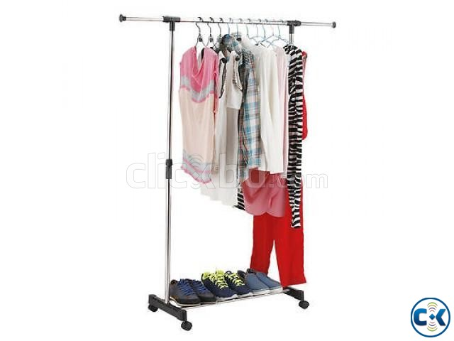 ADJUSTABLE SINGLE PORTABLE CLOTHE HANGER | ClickBD large image 4