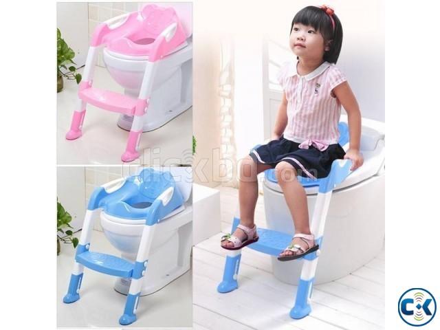 Kids Toilet Training Non-slip Foldable Seat | ClickBD large image 1