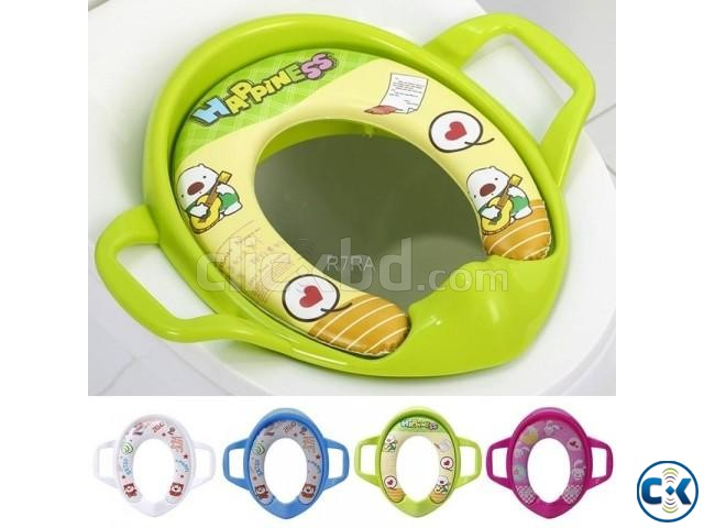 Baby Soft Potty Seat with handle | ClickBD large image 2