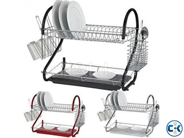 2 Layer Dish Drainer -1pc | ClickBD large image 0