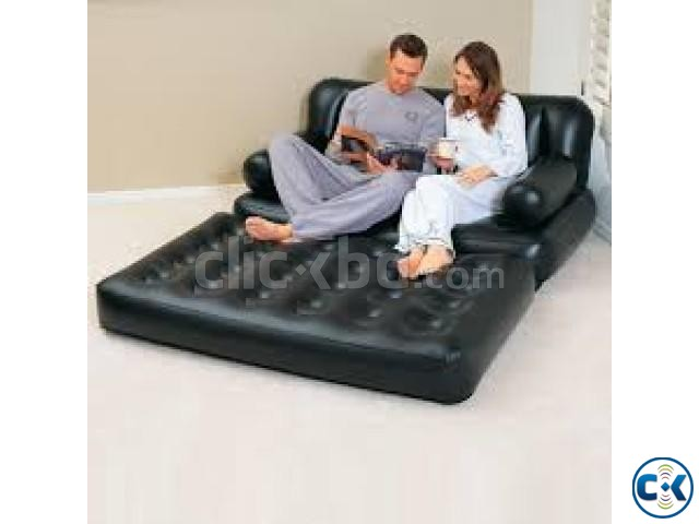 5 in 1 Inflatable Double Air Bed cum Sofa Chair BD | ClickBD large image 3