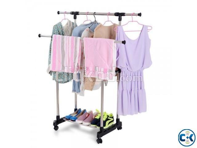 SINGLE PORTABLE CLOTHE HANGER ADJUSTABLE | ClickBD large image 0