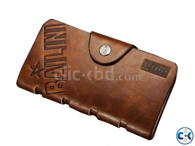 Full Leather Long Size Unisex Wallet and Card Holder | ClickBD large image 0