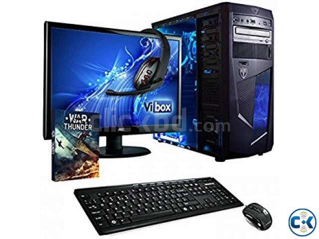 GAMING PC i3 2GB 160GB 17 LED MONITOR | ClickBD large image 0