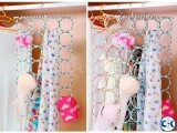 Rings Folding Rope Hanger for Scarf Belts Shawls Ties