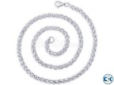 Silver Peora Stainless Steel Chain