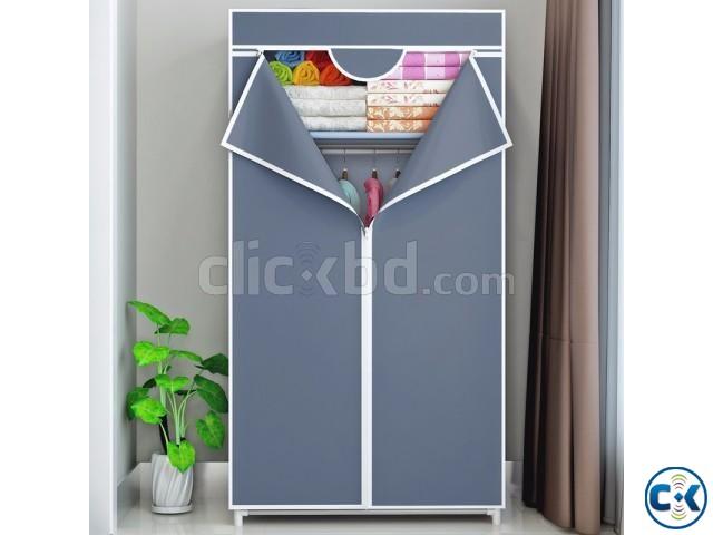 Bedroom Fabric Canvas Wardrobe Portable | ClickBD large image 0