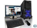 GAMING PC i3 2GB 160GB 17 LED MONITOR