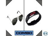 LED Watch and RayBan Sunglasses Combo
