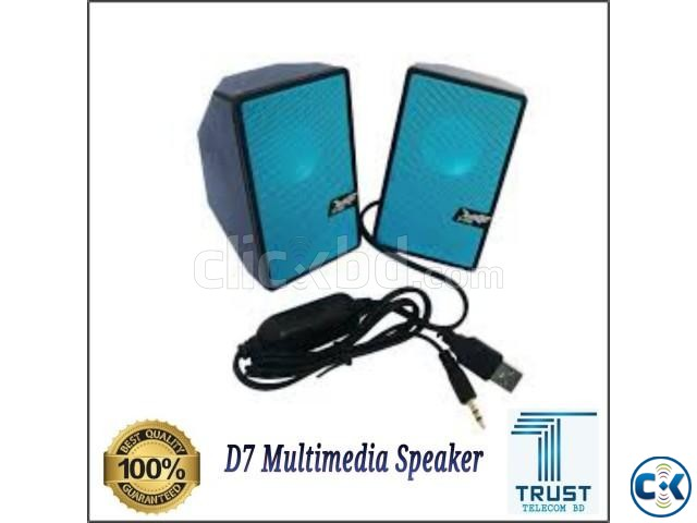 D7 Multimedia Speaker Mini USB 2.0 New  | ClickBD large image 0