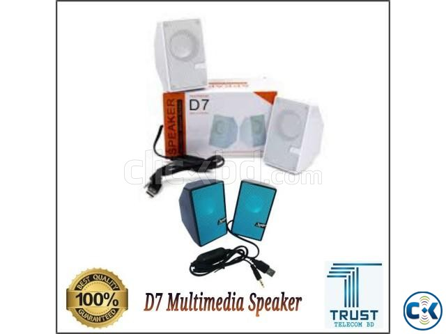 D7 Multimedia Speaker Mini USB 2.0 New  | ClickBD large image 1