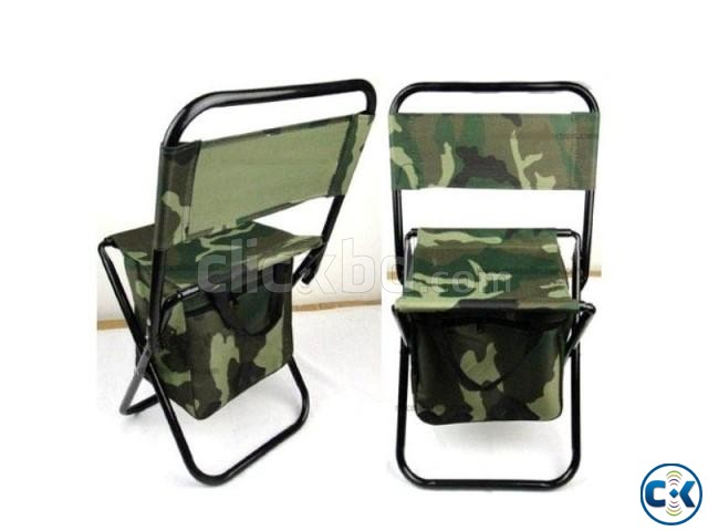 Camping Fold Army Chair with Comportment-  | ClickBD large image 0