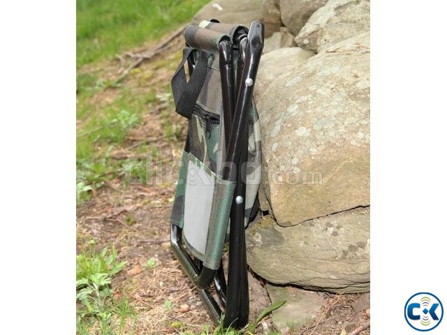 Camping Fold Army Chair with Comportment-  | ClickBD large image 2
