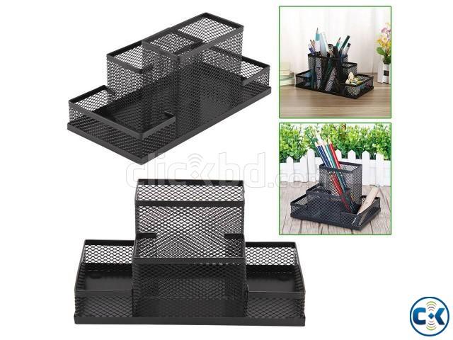 Desk Organizer Metal Storage Box | ClickBD large image 0