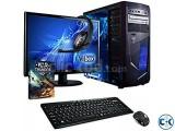 GAMING PC i5 3.20GHZ 4GB 250GB 15 LED