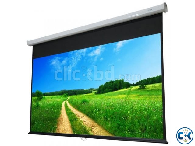 Projector Screen Tripod Manual Electric with any Size | ClickBD large image 0