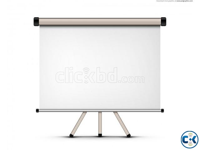 Projector Screen Tripod Manual Electric with any Size | ClickBD large image 1